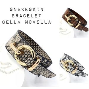 🆕 Snakeskin Vegan Leather Cuff Bracelet